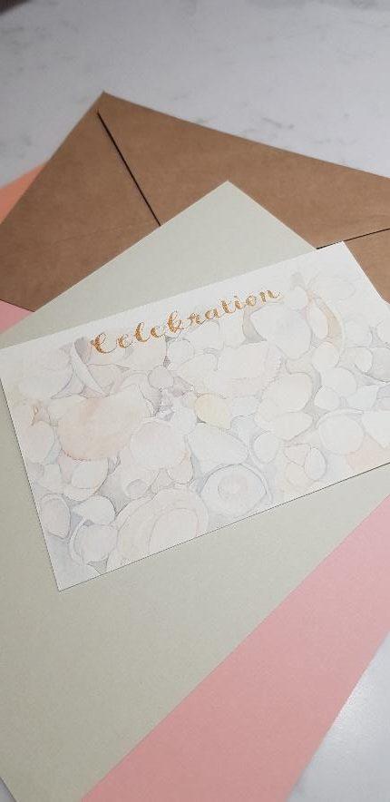 Sea shells Invitation place card